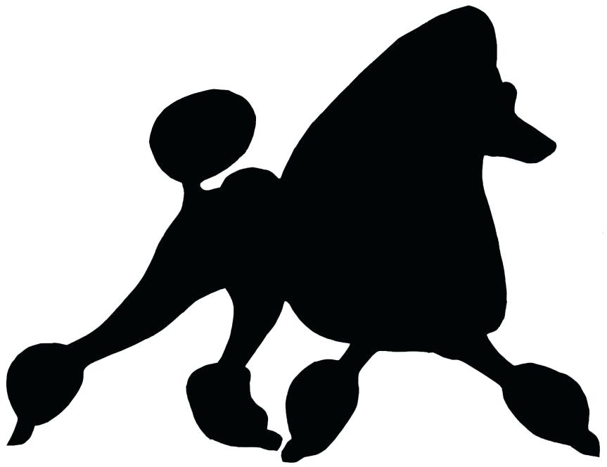 863x664 Poodle Outline For Poodle Skirt Poodle Silhouette Poodle Outline