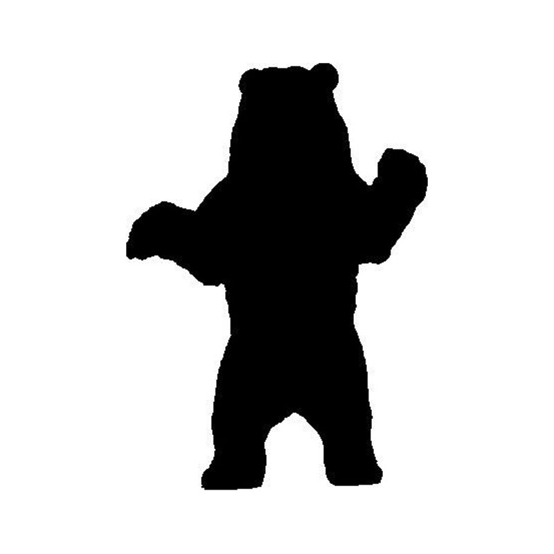 800x800 12.417.5cm Cool Standing Grizzly Bear Car Styling Bumper Decals