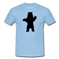 190x190 Standing Bear, Grizzly Bear Silhouette By Tshirtdesigns Spreadshirt