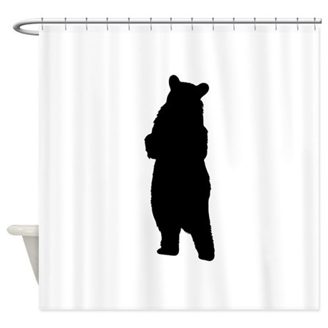 460x460 Standing Bear Shower Curtains