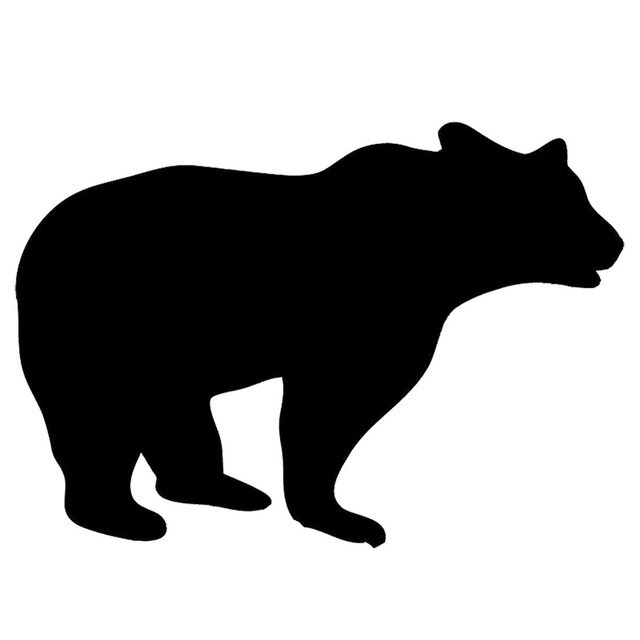 640x640 Grizzly Bear Silhouette Clip Art