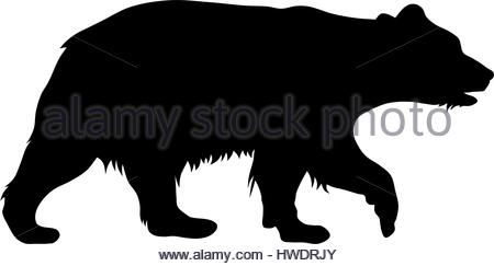 450x243 Vector Illustration Of Brown Bear Silhouette Stock Vector Art