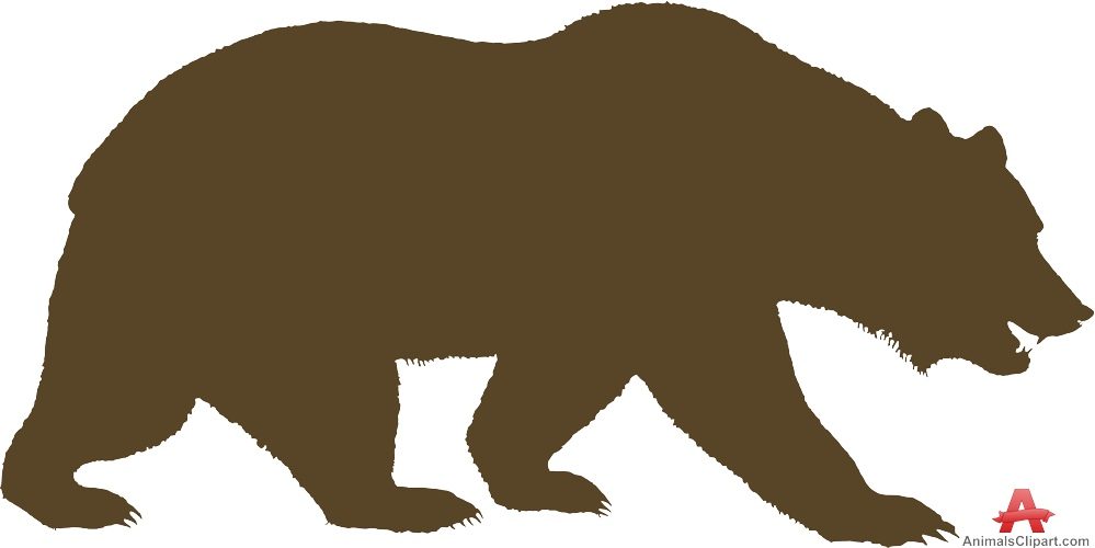 999x500 Walking Bear Clipart