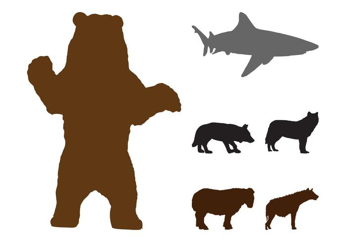 700x490 Wild Animals Silhouettes Graphics
