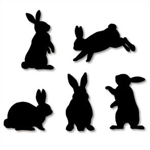 Standing Bunny Silhouette