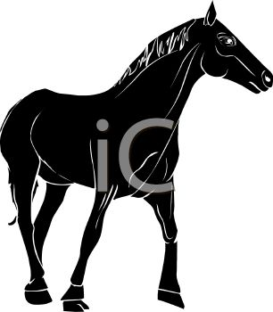 306x350 Picture Of A Silhouette Of A Horse Standing On A White Background