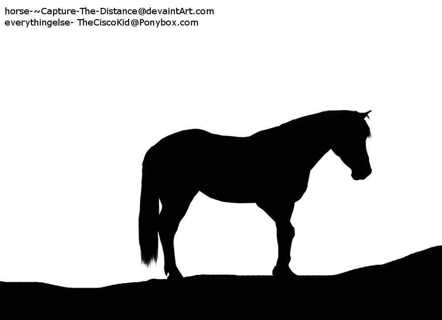 900x652 Standing Horse Silhouette By Theciscokid67