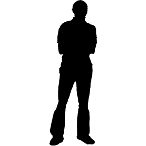 300x300 Man Silhouette Clipart, Cliparts Of Man Silhouette Free Download