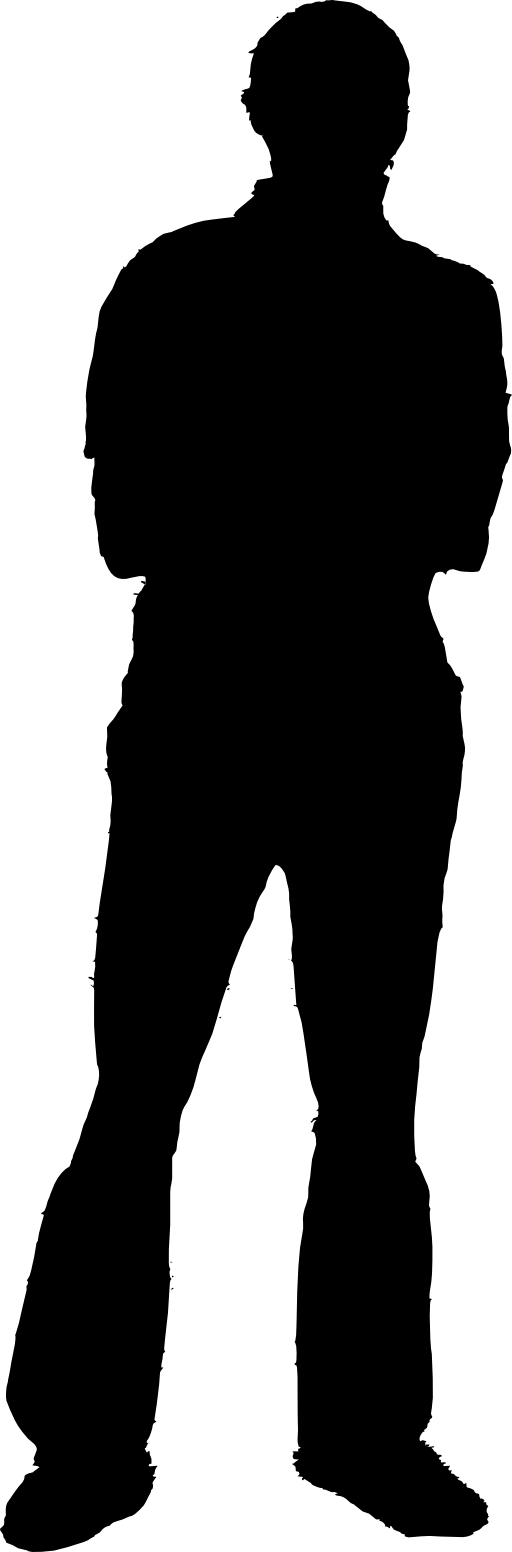 512x1552 Public Domain Silhouette Clip Art
