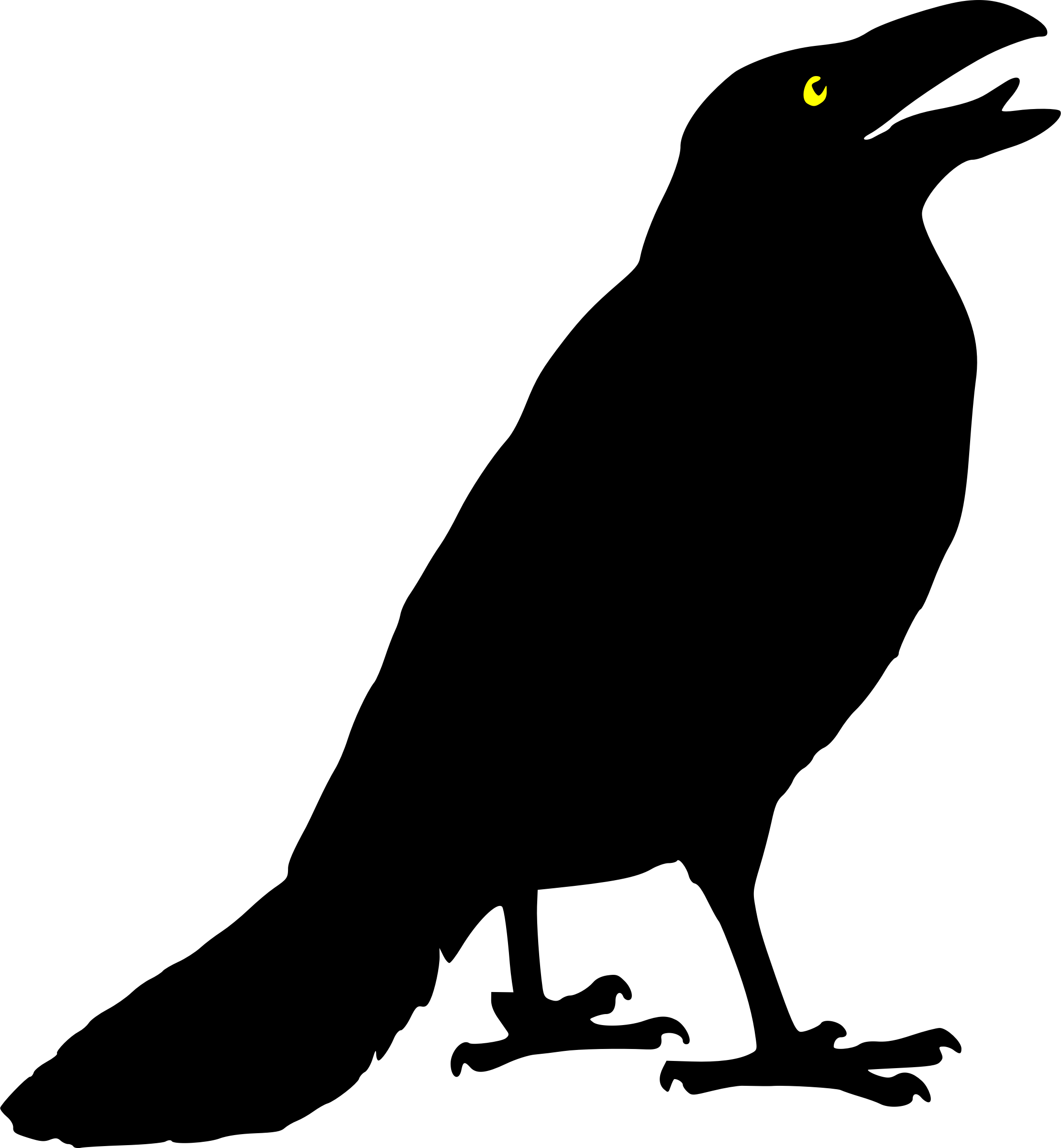 2218x2400 Crow Clipart Outline
