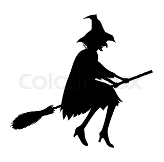 320x316 Silhouette Of The Female Witch Standing Near The Water During Dark
