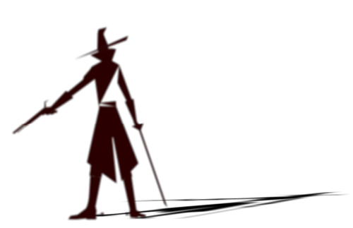 500x323 Witch Hunter Silhouette With Shadow Vector Clip Art Public