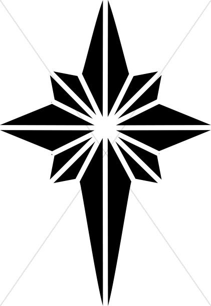 421x612 Black And White Nativity Star Clipart Epiphany Clipart