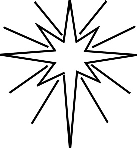 272x295 Christmas Star Ornament Glowing Coloring Page For Children