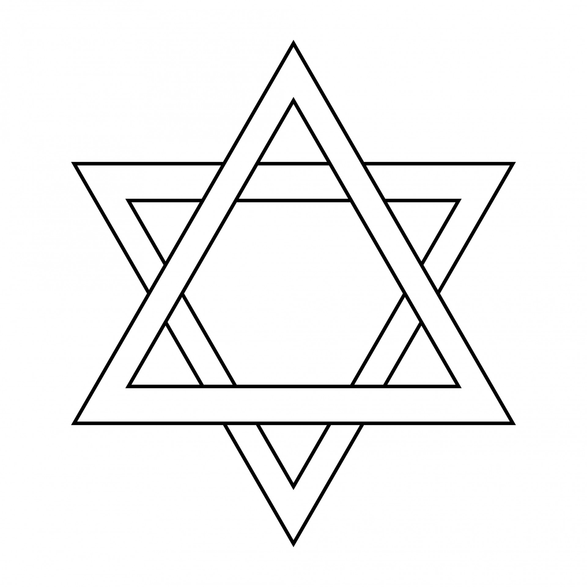 1920x1920 Star Outline Images Star Of David Outline Free Pictures Clipart