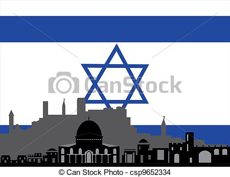450x347 Israel And The Flag With Star Of David Stock Photo
