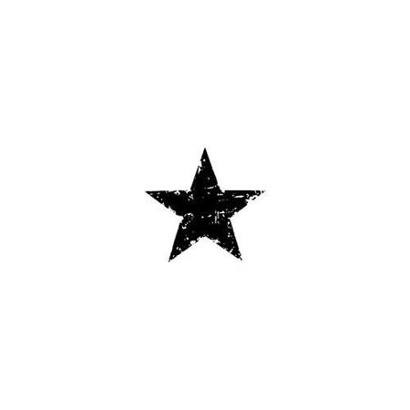 450x450 Tim Holtz Red Rubber Stamp Star Silhouette 1.5x1.5