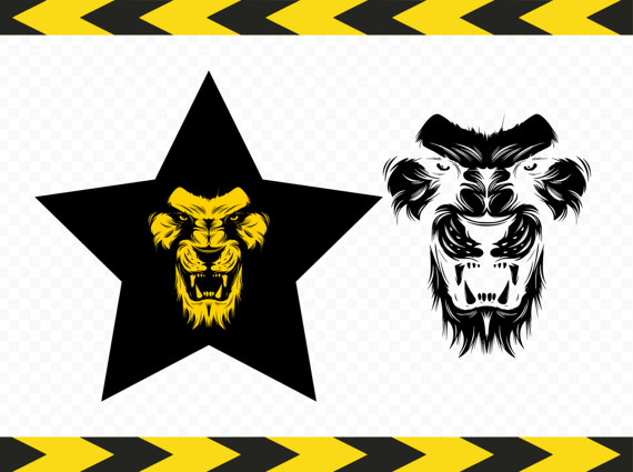 570x425 Lion Svg Printed Tshirt Design Star Art Clipart Stickers Vinyl