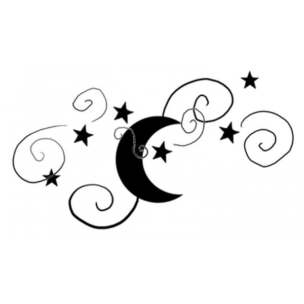 600x600 Moon And Stars Silhouette Clipart