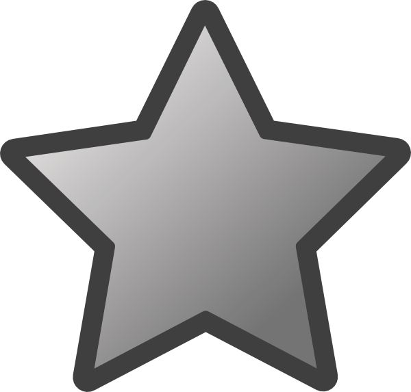 600x573 Outlined Star (Grey) Clip Art