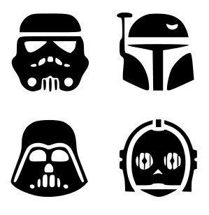 299x308 Svg, Disney, Star Wars Characters, Star Wars Silhouettes, Star War