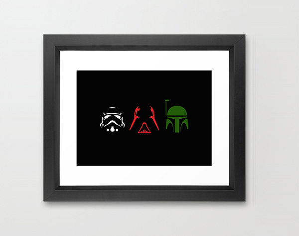 600x475 Star Wars Character Silhouettes On Behance