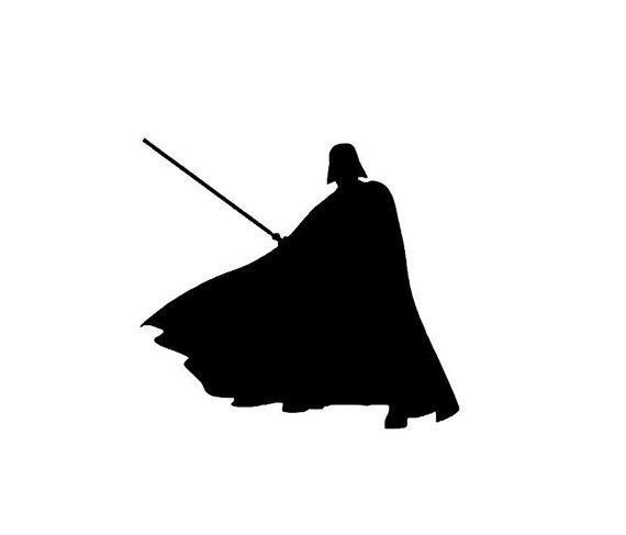 570x487 Star Wars Darth Vader Silhouette Vinyl Decalumper Sticker
