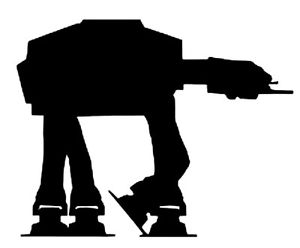 300x248 Star Wars At At Walker Imperial Fighter Vinyl Decal Ebay