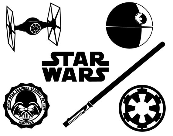 570x449 Star Wars Dxf Svg Eps Png File For Use With Your Silhouette