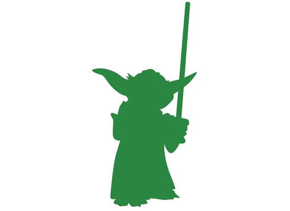 570x415 Yoda Silhouette Paper Ephemera Cut Out Art Any By Rinipapercuts