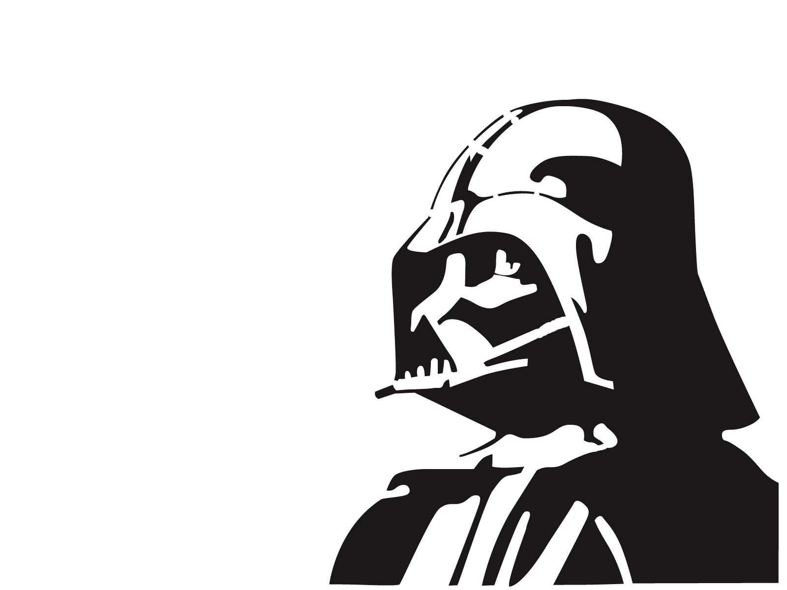 1600x1200 Darth Vader By ~graffitiwatcher On Silouettes