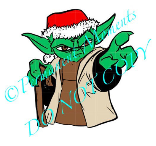 526x494 Svg Studio Christmas Star Wars Yoda Scalable Vector Instant