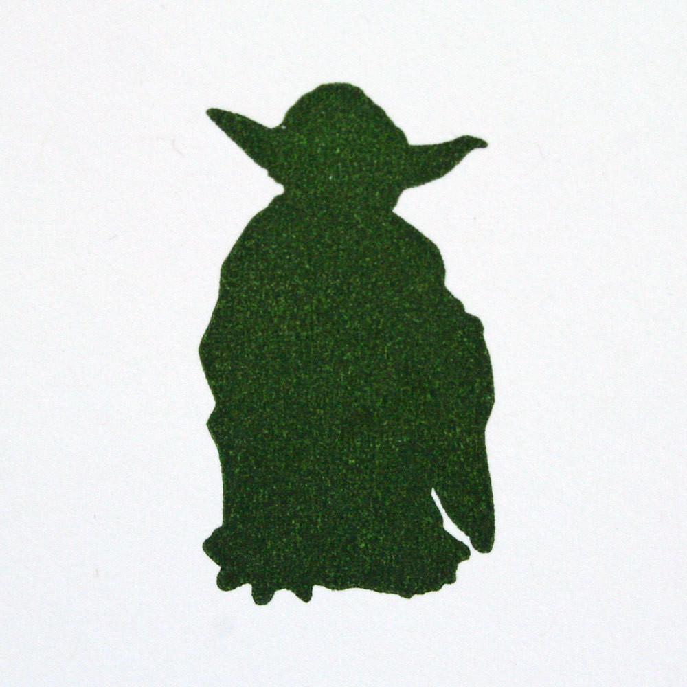 1000x1000 Star Wars Yoda Letterpress Card Green Bird Press