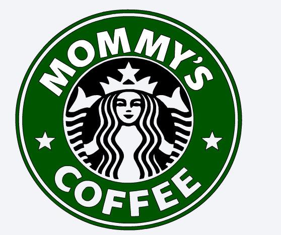 558x467 Svg Starbucks Logo Mommy's Coffee Custom Starbuck Logo