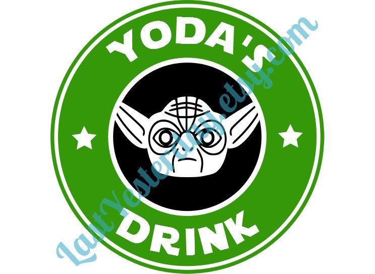 743x543 Star Wars Starbucks Yoda's Drink Digital Download Svg Jpg Png