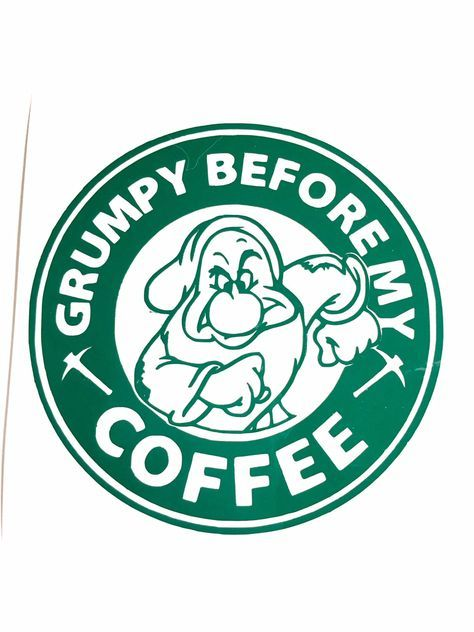 474x632 Diy Grumpy Before My Coffee Vinyl Decal, You Choose Size,