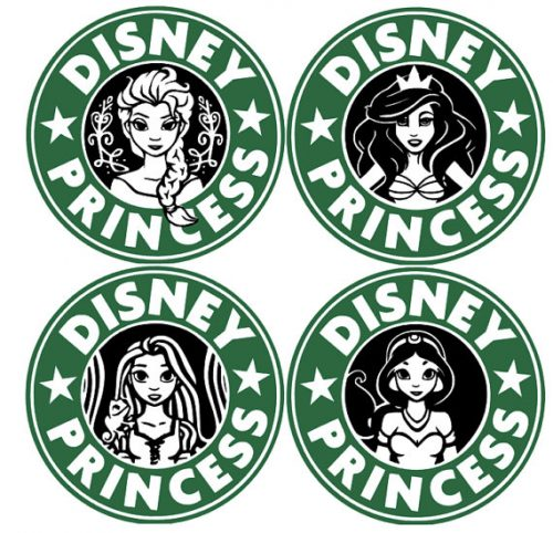 500x482 Even Disney Princesses Need To Refuel With Starbucks Silhouette