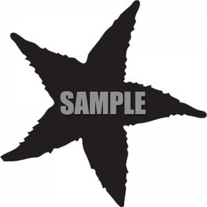 300x300 Free Clipart Image Silhouette Of A Starfish