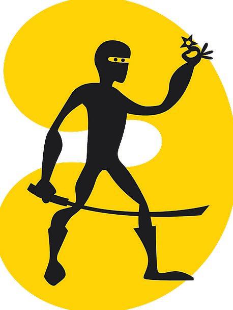 458x608 Man, Gentleman, Outline, Stars, Costars, Silhouette, Ninja, Sword