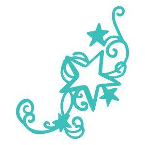 300x300 Silhouette Design Store Stars Swirl Flourish Silhouette Online