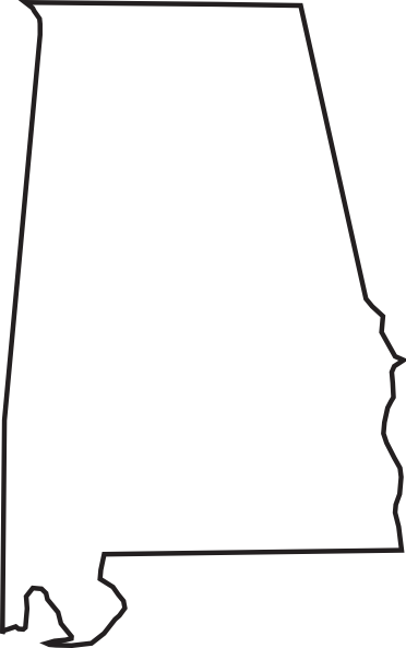 372x593 Font Alabama A For Silhouette Alabama Outline Clip Art