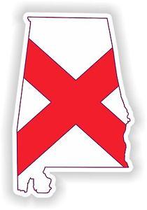 210x300 1x Sticker Alabama Silhouette State Decal Usa Map Flag Ebay