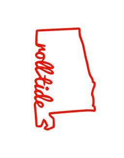 256x325 Roll Tide State Of Alabama Decal Design Ideas Roll