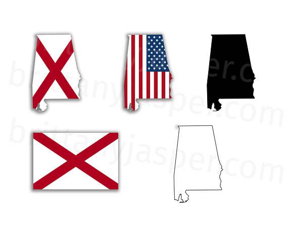570x453 Alabama State Flag Svg Vector Clip Art
