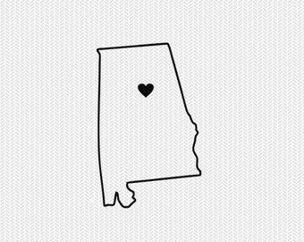 340x270 Alabama Outline Svg Etsy