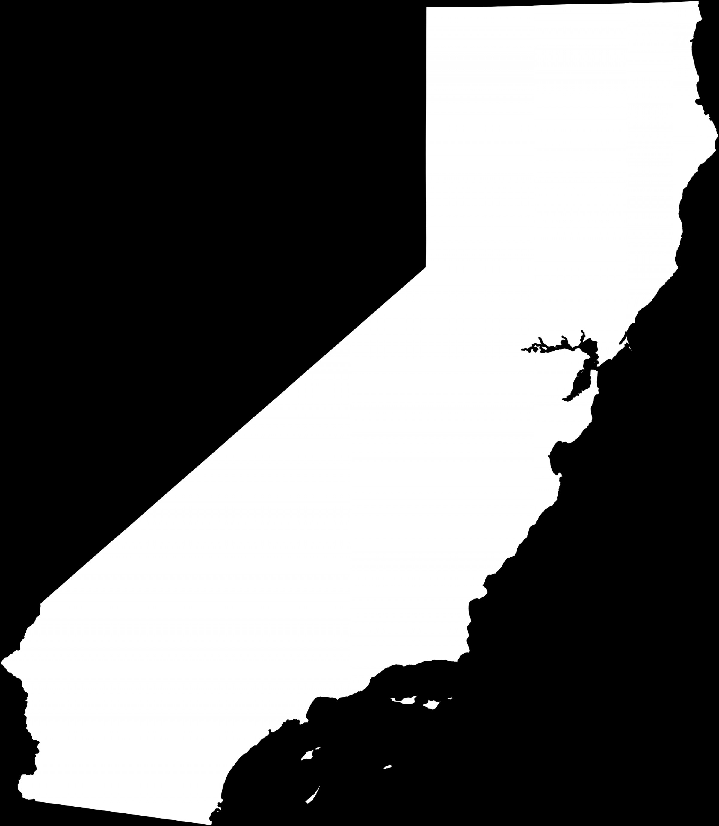 2400x2758 California State Vector Shopatcloth