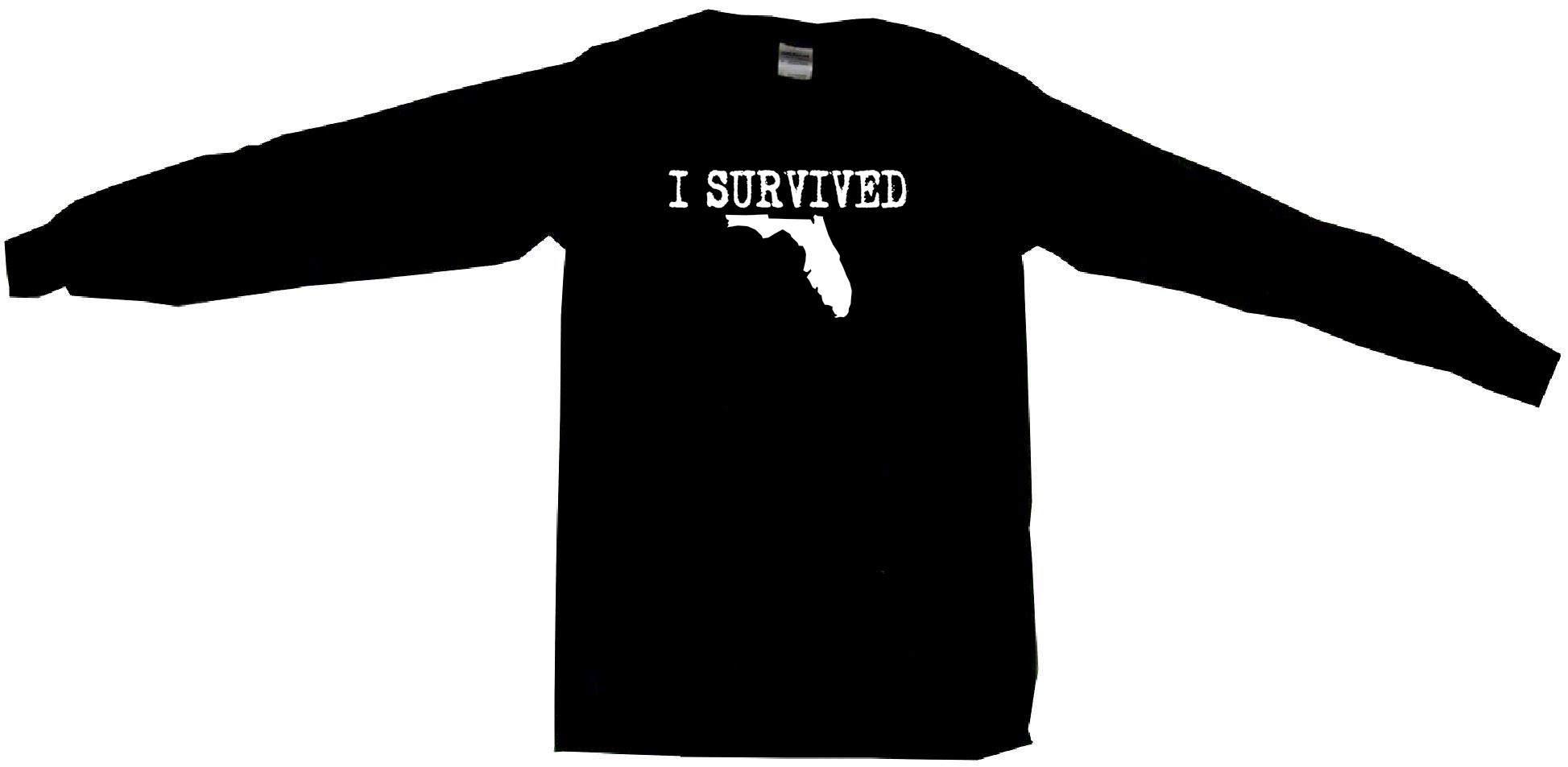 1947x953 I Survived State Of Florida Silhouette Womens Tee Shirt Pick Size
