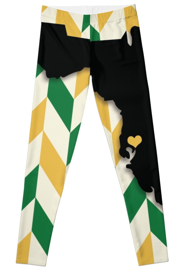 579x875 University Of South Florida Chevronstate Silhouette Leggings By