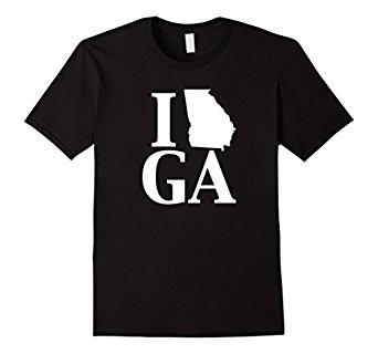 342x320 I Heart Love Ga Georgia Silhouette State Outline T