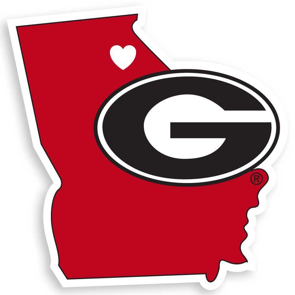 945x945 Georgia Bulldogs State Pride Vinyl Decal Ga Dawgs
